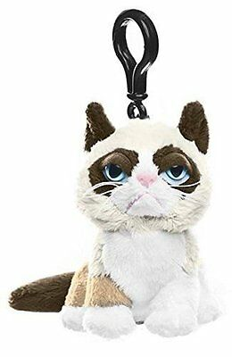 Ganz Grumpy Cat Plush Key Chain Clip, NWT