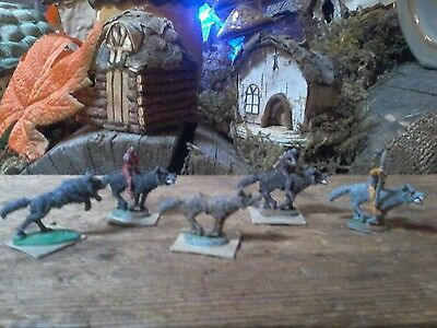 5 Vintage Dungeons & Dragons Miniatures 70s 80s