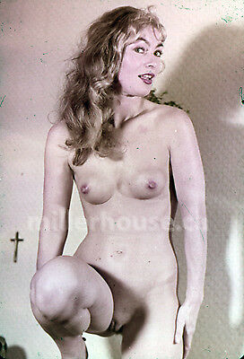 1950's Slim Blonde Original Nude Pin-Up 35mm Film Transparency Slide Photo #1