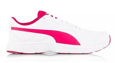 Ladies PUMA AXIS 4 White/Pink Sneakers. Size 7 US. New In Box