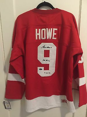Autographed Gordie Howe Jersey With COA Hologram.