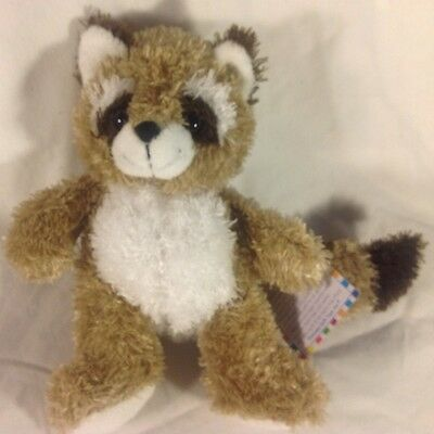 (10) Princess soft toy plush bean 2005 raccoon super soft NEW - Free Ship nr