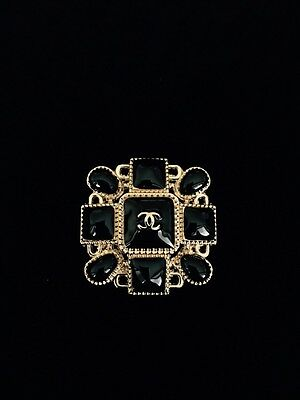 Chanel Decorate Button Jacket Coat Black/Gold Size 40mmX40mm New