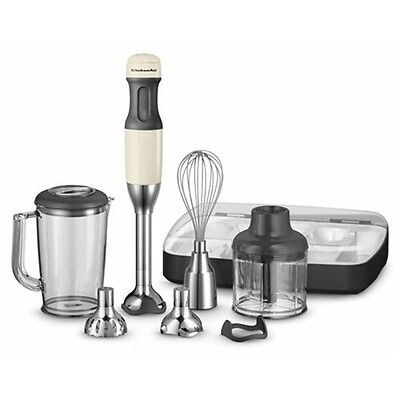 KitchenAid Artisan Deluxe Hand Blender Set - Almond Cream KHB2569 - BRAND NEW -