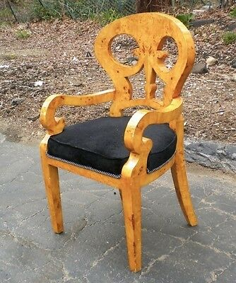 Superb Biedermeier Style in French Elm wood ArmChair
