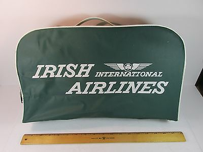 Vintage Irish International Airlines Vinyl Carry On Bag 17x10x4 inch 1965
