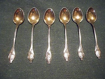 Lot of 6 AE & Co. U.S.A. 3 3/4 inches long small spoons