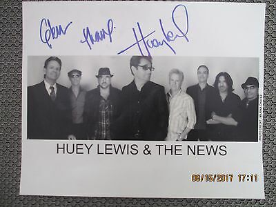 Huey Lewis & The New - Signed Autograph B/W Photograph Picture 8x10