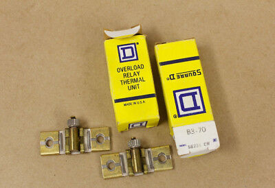2 New Surplus Square D B3.70 Overload Relay Thermal Units Heater Elements B370