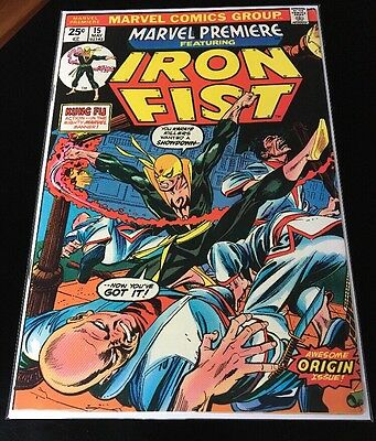 Marvel Premiere #15 HIGH GRADE First 1st Appearance of IRON FIST * Defenders Key