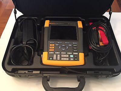 Fluke 190-204 Color ScopeMeter with Amp Clamps, Carrying Case, SW90W software
