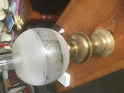 Vintage 2 Burner Oil Lamp  Can Post Pu 3825