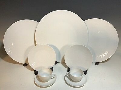 "Rosenthal ""TAC 02"" White 9 Pc Set Modern Bauhaus Design"