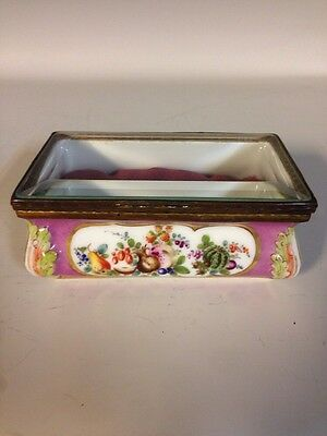 Vintage Samson & Cie French/Paris Porcelain Glass Jewelry Casket