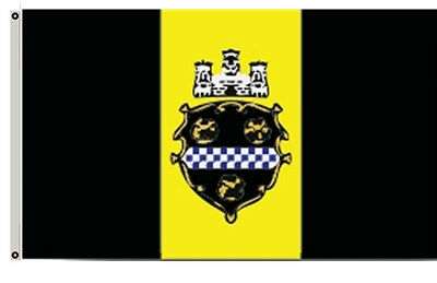 City of Pittsburgh Flag and Banner Size 3x5Ft banner