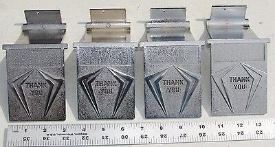 A & A Capsule Candy Gumball Vending Machine Large Chute Door Lot of 4 Used Parts
