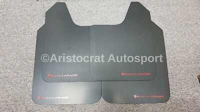 Rally Armor Basic UNIVERSAL Mud Flaps w/ Red Lettering Set of Four! MF12-BAS-RD