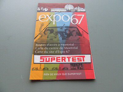 1967 Supertest Gasoline Expo 67 Map