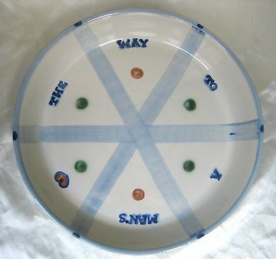 M.A. Hadley THE WAY TO A MAN'S HEART Vintage Pie Plate