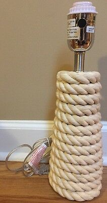 NEW Pottery Barn Kids Rope Coil Lamp Base NAUTICAL