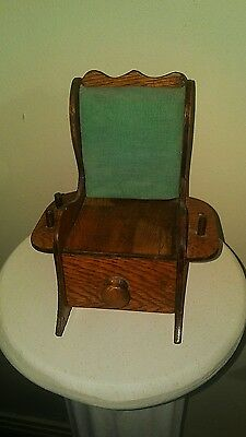 Vintage Sewing Pin Cushion Thread Holder Rocking Chair