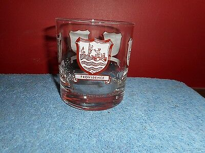 Old Stone Bank Rhode Island Bar Glass Vintage Rhode Island Banking Promo Glass