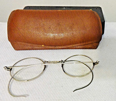 Antique Eyeglasses 1/10 12 K Silver Round Bifocal Spectacles Frames Provenance