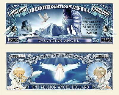 Guardian Angel Million Dollar Bill Collectible Fake Funny Money Novelty Note