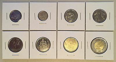 CANADA 2017 New Complete coins set UP TO DATE (BU directly from mint roll)