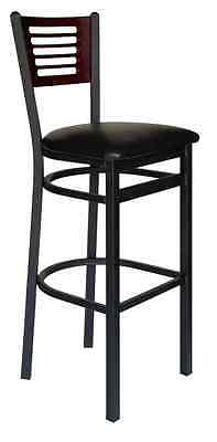 New Espy Commercial Metal Frame Restaurant Bar Stool with Slotted Back
