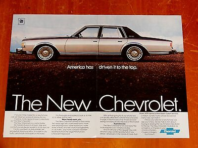 Beautiful 1979 Chevy Caprice Classic 4 Door Sedan Vintage Ad - Retro America