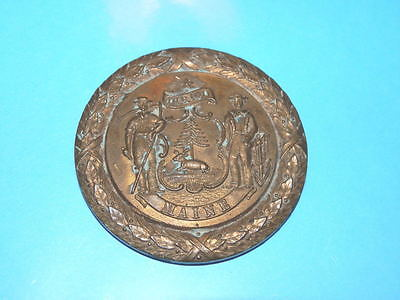 #8660,Maine National Guard Seal Emblem Medal 9 Yr Service