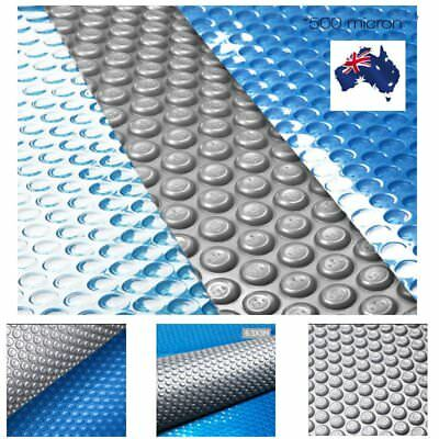 500 Micron Solar Swimming Pool Cover Outdoor Bubble Blanket Isothermal 4 Sizes