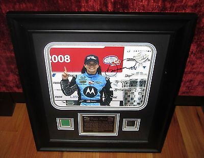 Danica Patrick Signed / Autographed / Framed 1st IndyCar Series Win MM LE 300