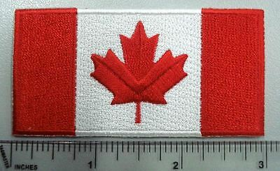 Canada Flag crest, 3in patch, 100% high quality emb. flag with glue back