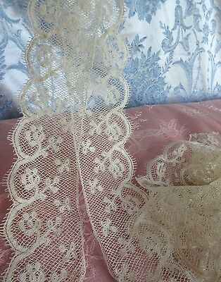 """Antique Valenciennes Lace Edging French Doll Trim Craft Sewing2""""Wide x2 1/3Yards"""