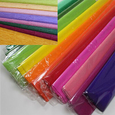 Kid handcraft papers- printed crepe paper 50cm X 200 cm 17gsm 5 sheets