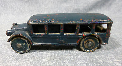 Antique A.C. Williams Cast Iron Large Window Touring Bus - 1920's