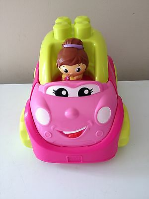 Mega Bloks Pink / Yellow Car