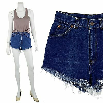 1970's Vintage Women's 26 or 27 Levi's High Waist Shorts Denim Dark Wash 2 or 4