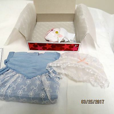 AMERICAN GIRL Elizabeth HTF Retired Tea Lesson Gown Outfit Complete New in Box