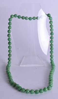 good antique chinese jadeite carved necklace - qing - 165 g - early 20th c