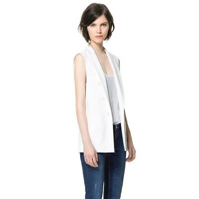 Women Lapel Sleeveless Long Waistcoat Blazer Jacket Vest Cardigan Coat Outwear