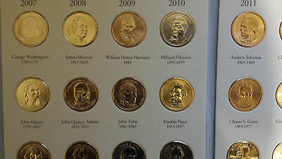 Presidential Dollar Collector's Album with 39 Coins All Presidents 2007 to 2016