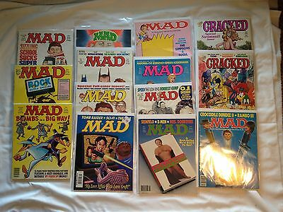 VINTAGE COLLECTION OF CLASSIC MAD-CRACKED MAGAZINES-SUPER SPECIALS 1980`-90's