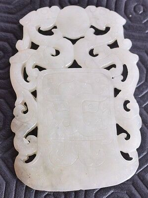 good antique chinese jade carving - antique jade - qing - 33 g - jade tablet