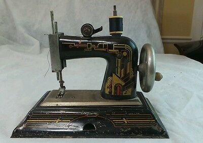 Child Casige Miniature Sewing Machine Art Deco Germany Antique