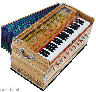 HARMONIUM~JAS REED TEAK WOOD~11 STOPS~3½ OCTAVES~BASS/MALE~440 Hz~COUPLER~42 KEY