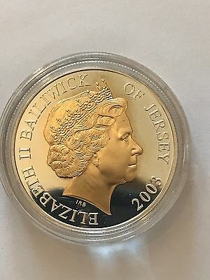 2003 Bailwick Of Jersey Elizabeth 1oz Proof £5 Five Pound Coin Bullion
