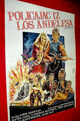 Hollywood Cop 1987  James Mitchum Cameron Mitchell Unique Exyu Movie Poster